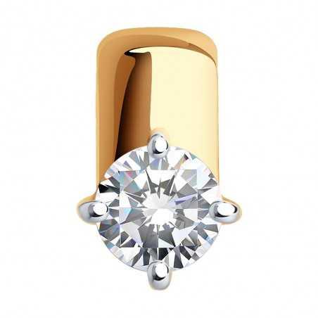 Auksinis pakabukas su Swarovski kristalu - Auksiniai pakabukai - Goldinga