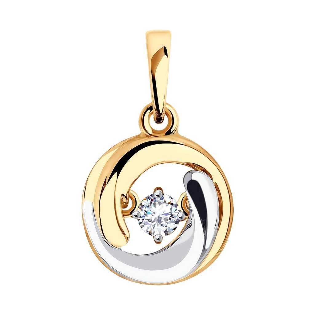Auksinis pakabukas su cirkoniu - Auksiniai pakabukai - Goldinga