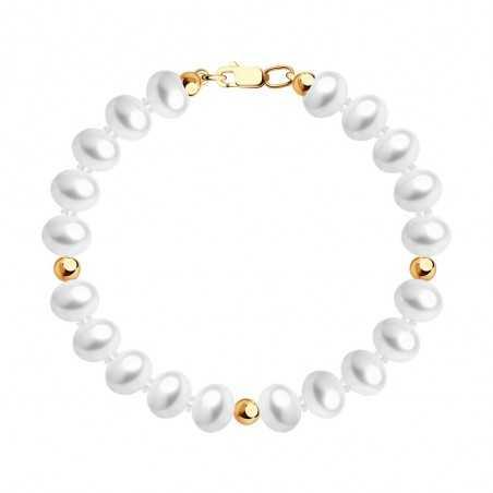Apyrankė Su Perlais Ir Auksu - Auksinės apyrankės - Goldinga