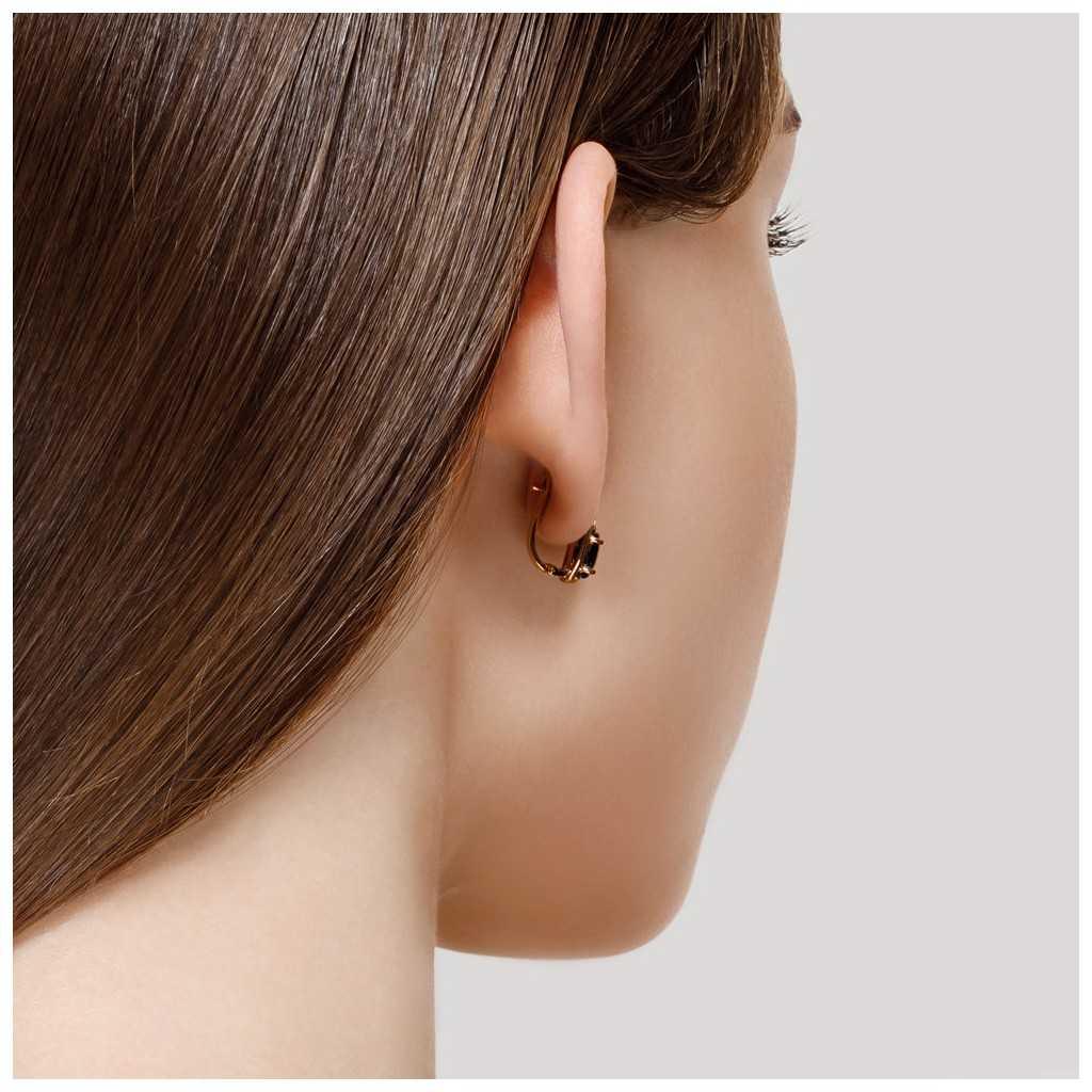 Auksiniai auskarai su korundu ir cirkoniais - Auksiniai auskarai - Goldinga