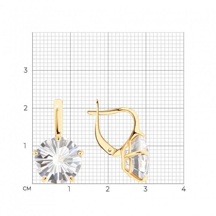 Auksiniai auskarai su kalnų krištolu - Auksiniai auskarai - Goldinga