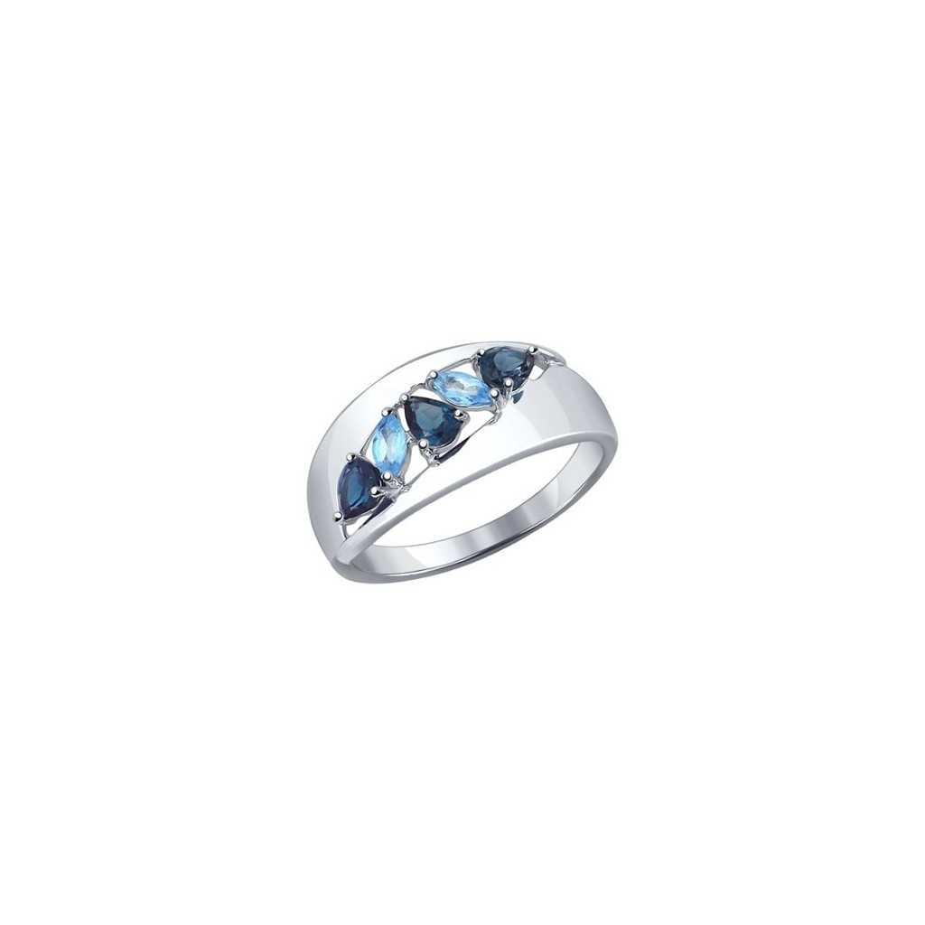Sidabrinis žiedas su London topazais - Sidabriniai žiedai - Goldinga