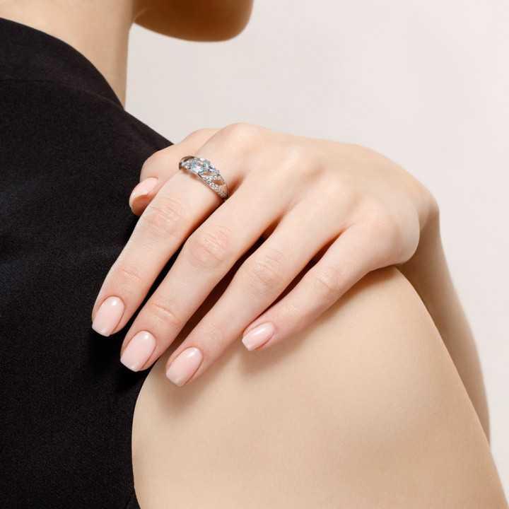 Sidabrinis žiedas su Topazais ir cirkoniais - Sidabriniai žiedai - Goldinga