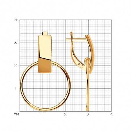 Paauksuoti sidabriniai auskarai - Sidabriniai auskarai - Goldinga