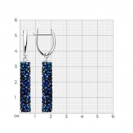 Sidabriniai auskarai su Swarovski kristalais - Sidabriniai auskarai - Goldinga