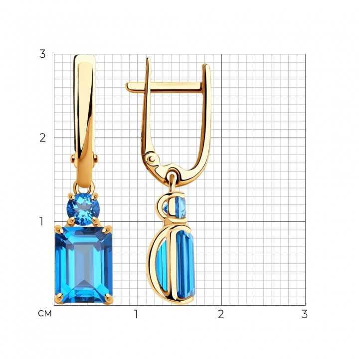 Auksiniai auskarai su Swarovski topazais - Auksiniai auskarai - Goldinga