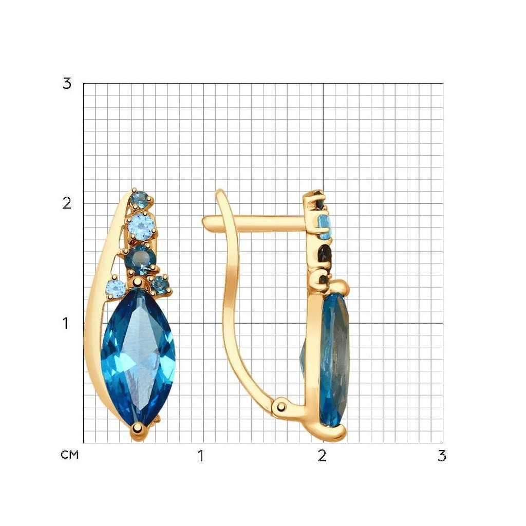 Auksiniai auskarai su topazais - Auksiniai auskarai - Goldinga