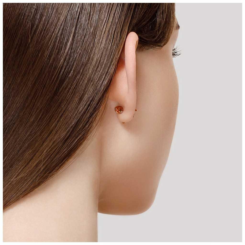 Auksiniai auskarai su rodolitu ir cirkoniais - Auksiniai auskarai - Goldinga