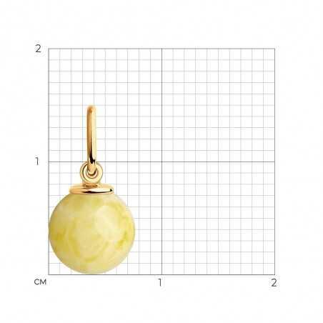 Auksinis pakabukas su gintaru - Auksiniai pakabukai - Goldinga