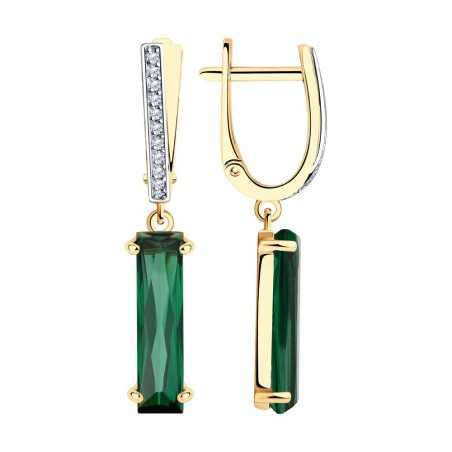 Auksiniai auskarai su sitalais ir cirkoniais - Auksiniai auskarai - Goldinga
