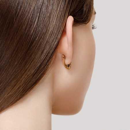 Auksiniai auskarai su London topazu ir cirkoniais - Auksiniai auskarai - Goldinga