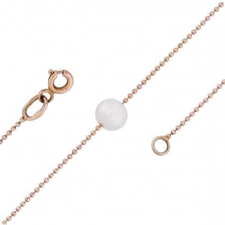 Auksinė grandinėlė su perlais 1mm - Auksinės grandinėlės - Goldinga