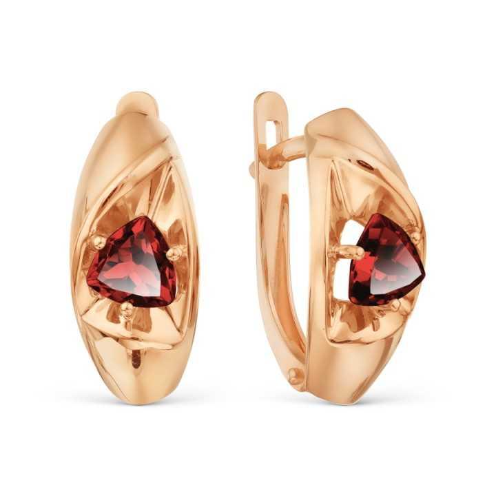 Auksiniai auskarai su Granatu
