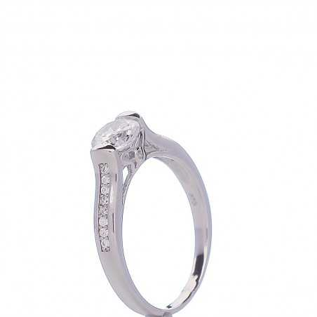 Sidabrinis žiedas su cirkoniais - Sidabriniai žiedai - Goldinga