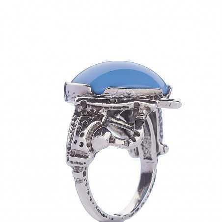 Sidabrinis žiedas 000294200880 - Sidabriniai žiedai - Goldinga