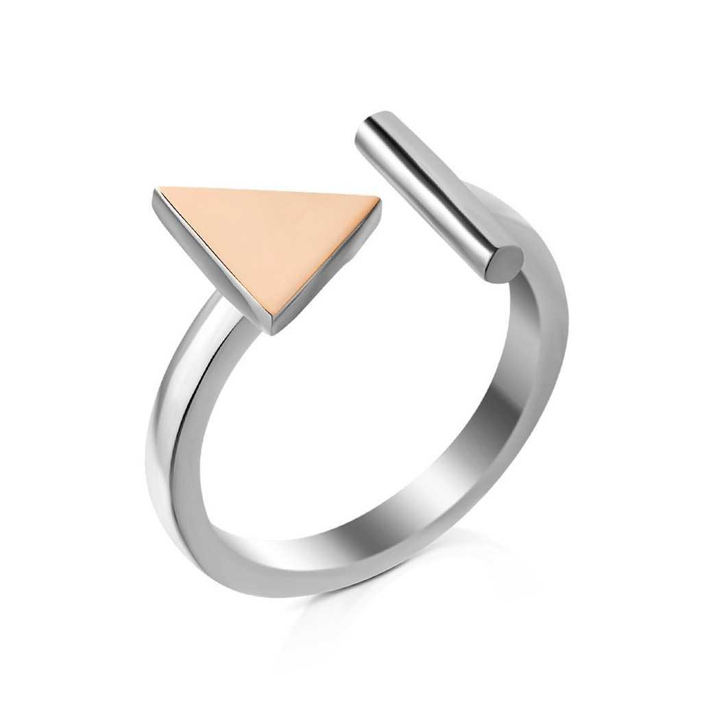 Sidabrinis žiedas dengtas auksu - Sidabriniai žiedai - Goldinga