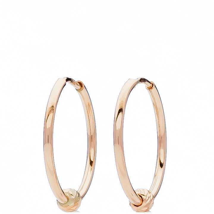 Auksiniai auskarai rinkutės 20mm - Auksiniai auskarai - Goldinga