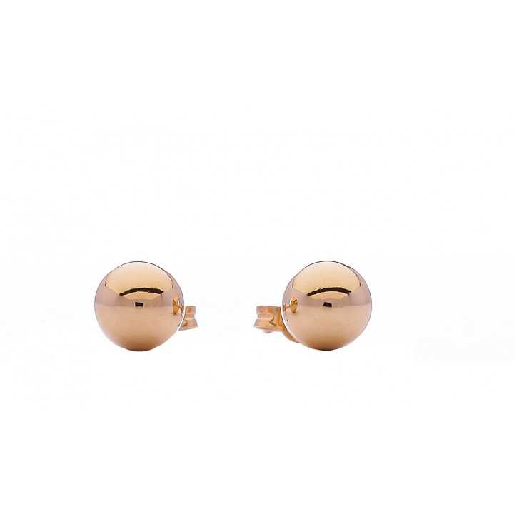 Auksiniai auskarai 5mm - Auksiniai auskarai - Goldinga