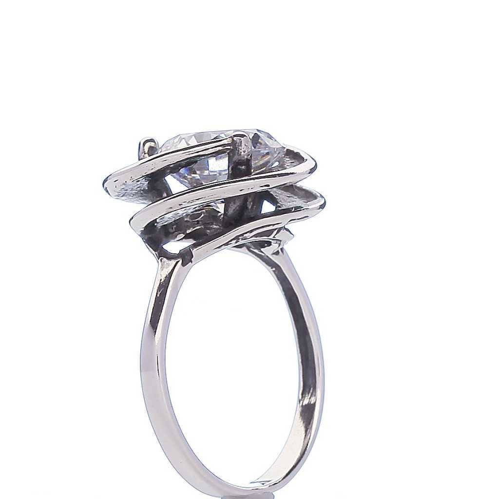 Sidabrinis žiedas su cirkoniu - Sidabriniai žiedai - Goldinga