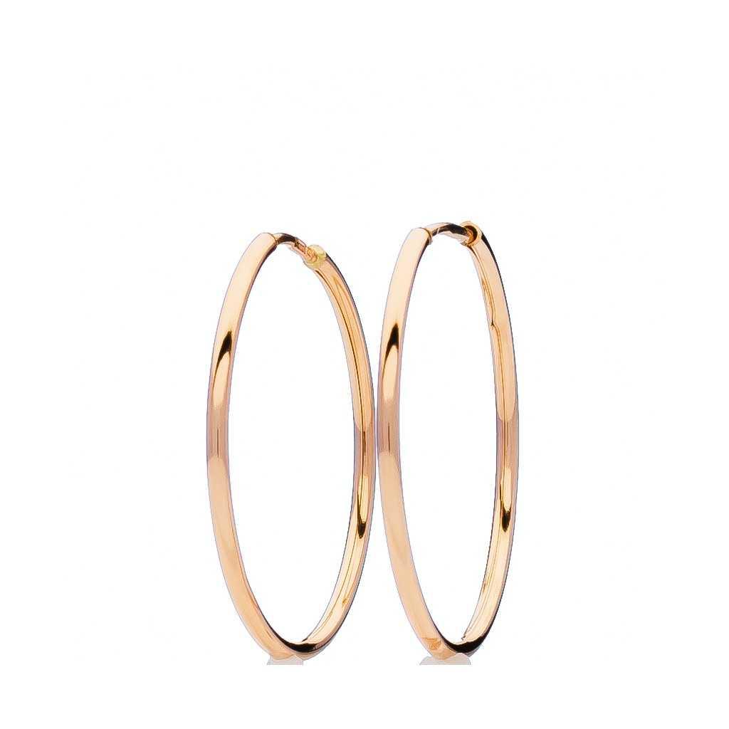 Auksiniai auskarai rinkutės 30mm - Auksiniai auskarai - Goldinga