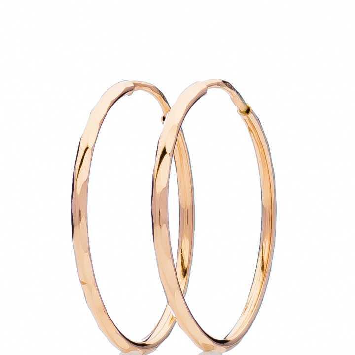 Auksiniai auskarai rinkutės 50mm - Auksiniai auskarai - Goldinga