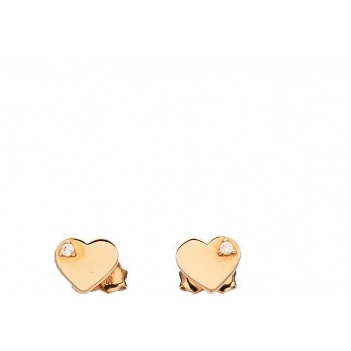 """Auksiniai auskarai su cirkoniu """"širdelė"""" - Auksiniai auskarai - Goldinga"""