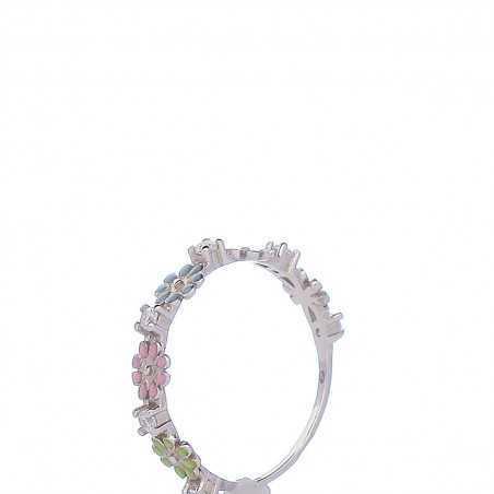 Sidabrinis žiedas su cirkoniu ir emale - Sidabriniai žiedai - Goldinga