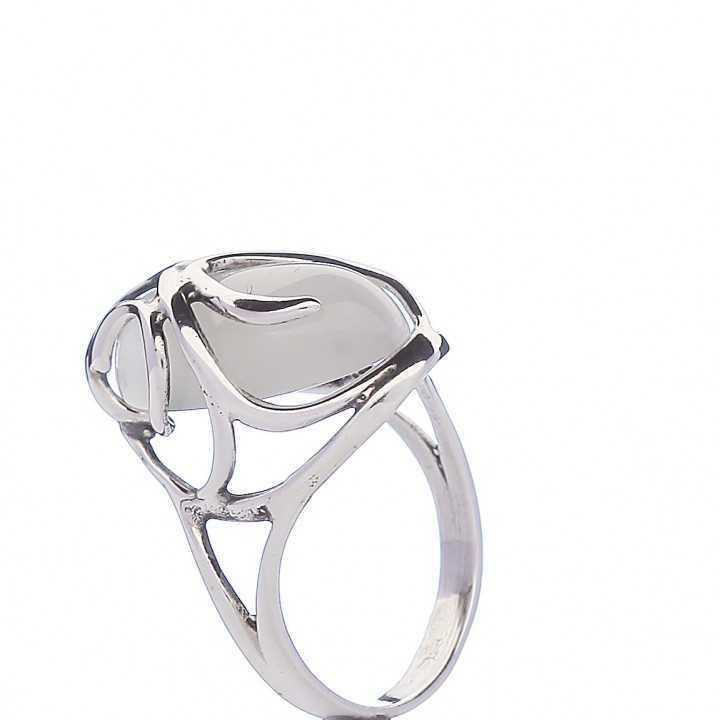 Sidabrinis žiedas Katės akies akmeniu - Sidabriniai žiedai - Goldinga