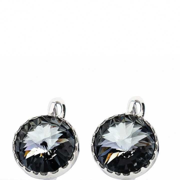 Sidabriniai auskarai su Swarovski kristalu - Sidabriniai auskarai - Goldinga