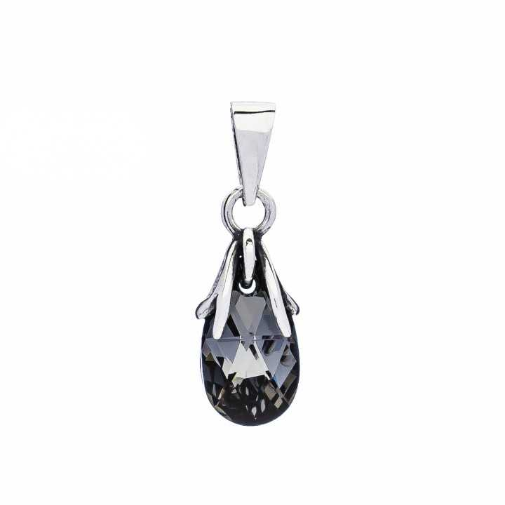 Sidabrinis pakabukas su Swarovski kristalu - Sidabriniai pakabukai - Goldinga