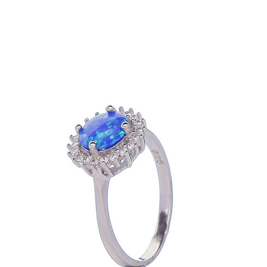 Sidabrinis žiedas su opalu - Sidabriniai žiedai - Goldinga