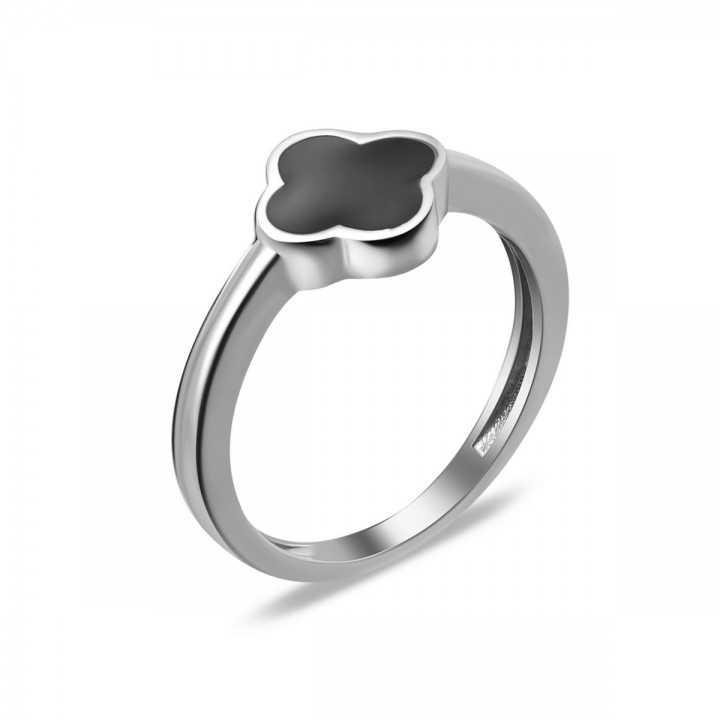 Sidabrinis žiedas su emale - Sidabriniai žiedai - Goldinga