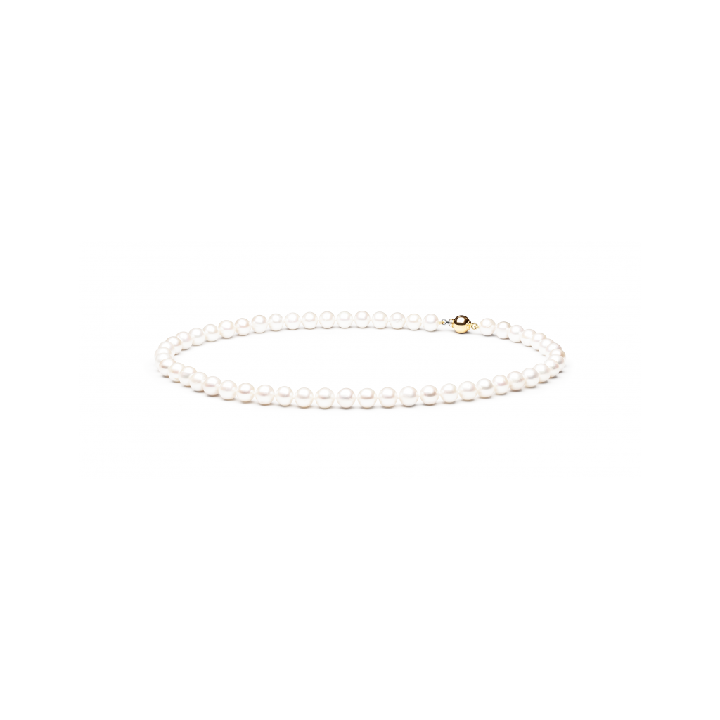 Perlų vėrinys Su Auksu - Perlų vėriniai - Goldinga