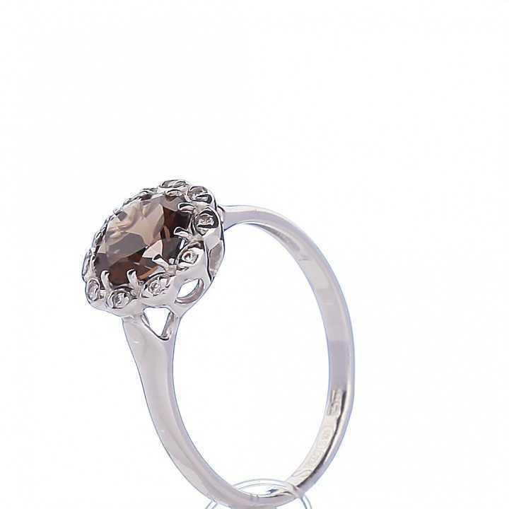 Sidabrinis žiedas su topazu - Sidabriniai žiedai - Goldinga