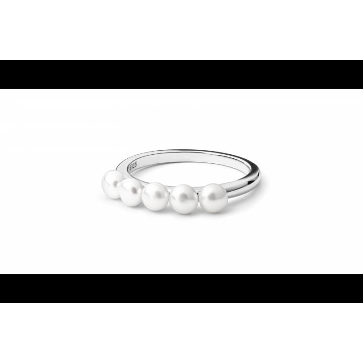 Sidabrinis žiedas su perlais - Sidabriniai žiedai - Goldinga