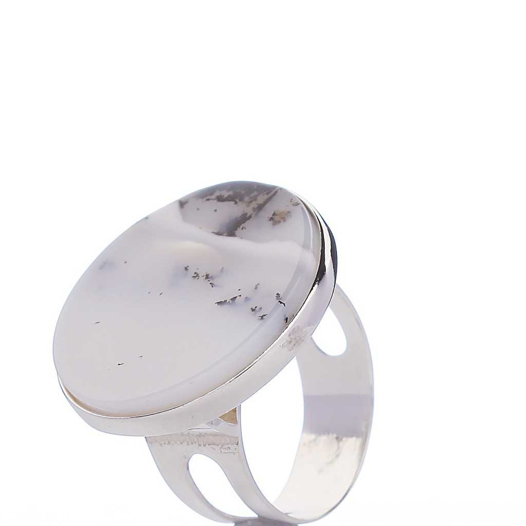 Sidabrinis žiedas su agatu - Sidabriniai žiedai - Goldinga