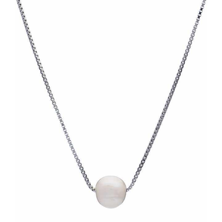 Sidabrinė grandinėlė su perlo pakabuku - Sidabrinės grandinėlės su pakabukais - Goldinga