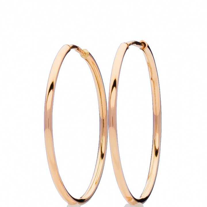 Auksiniai auskarai rinkutės 40mm - Auksiniai auskarai - Goldinga
