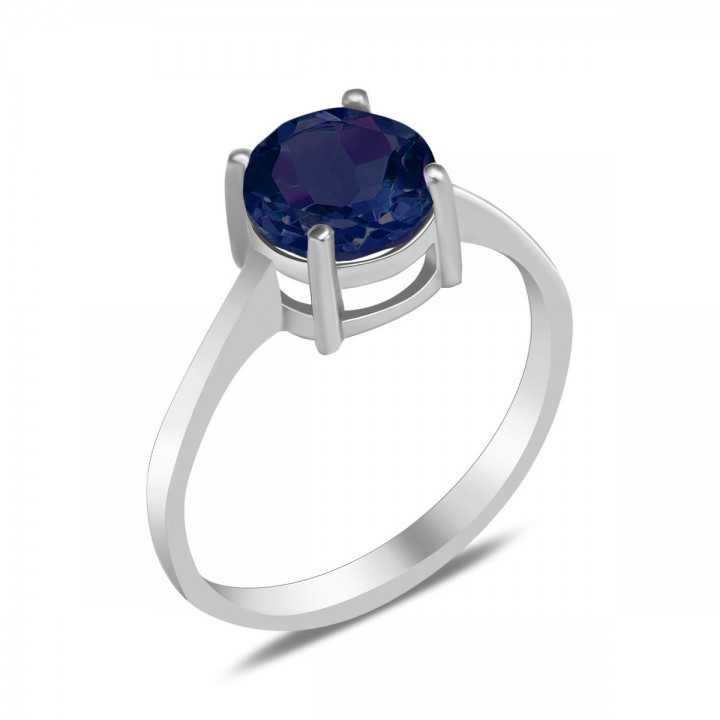 Sidabrinis žiedas su nano safyru - Sidabriniai žiedai - Goldinga