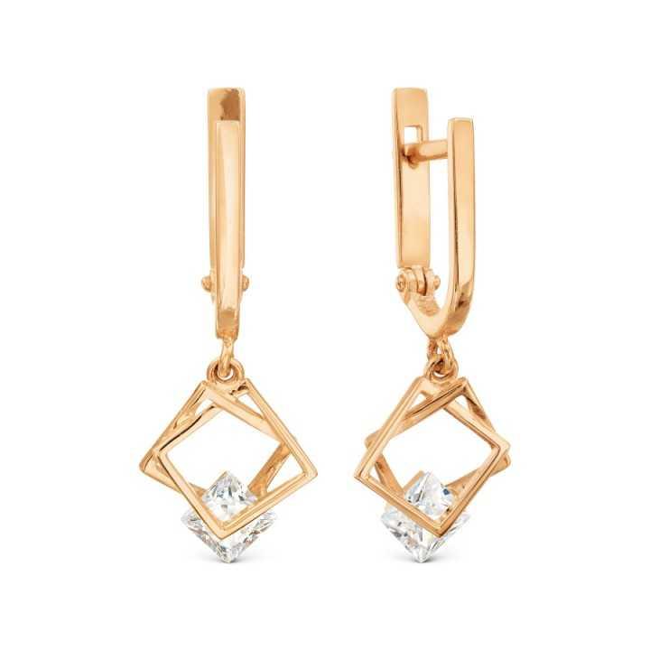 Auksiniai auskarai su cirkoniu