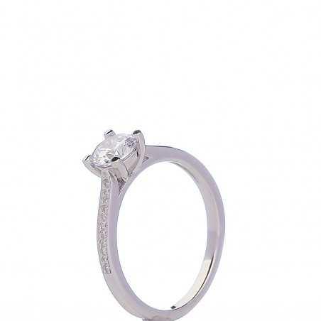 Sidabrinis žiedas cirkoniais - Sidabriniai žiedai - Goldinga