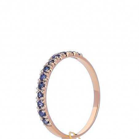 Auksinis žiedas su safyrais - Auksiniai žiedai - Goldinga