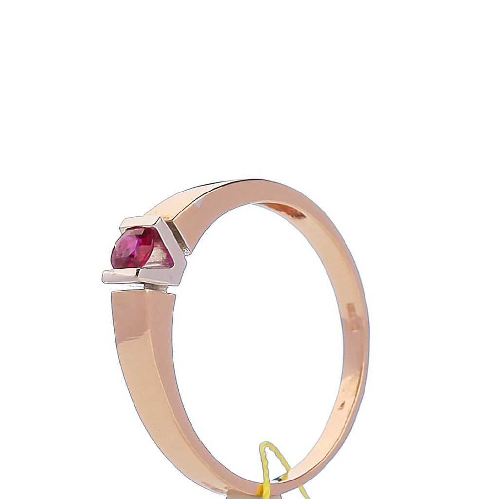 Auksinis žiedas su rubinu - Auksiniai žiedai - Goldinga