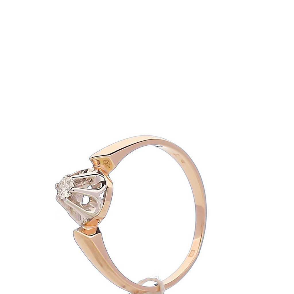 Auksinis žiedas su briliantu - Auksiniai žiedai - Goldinga