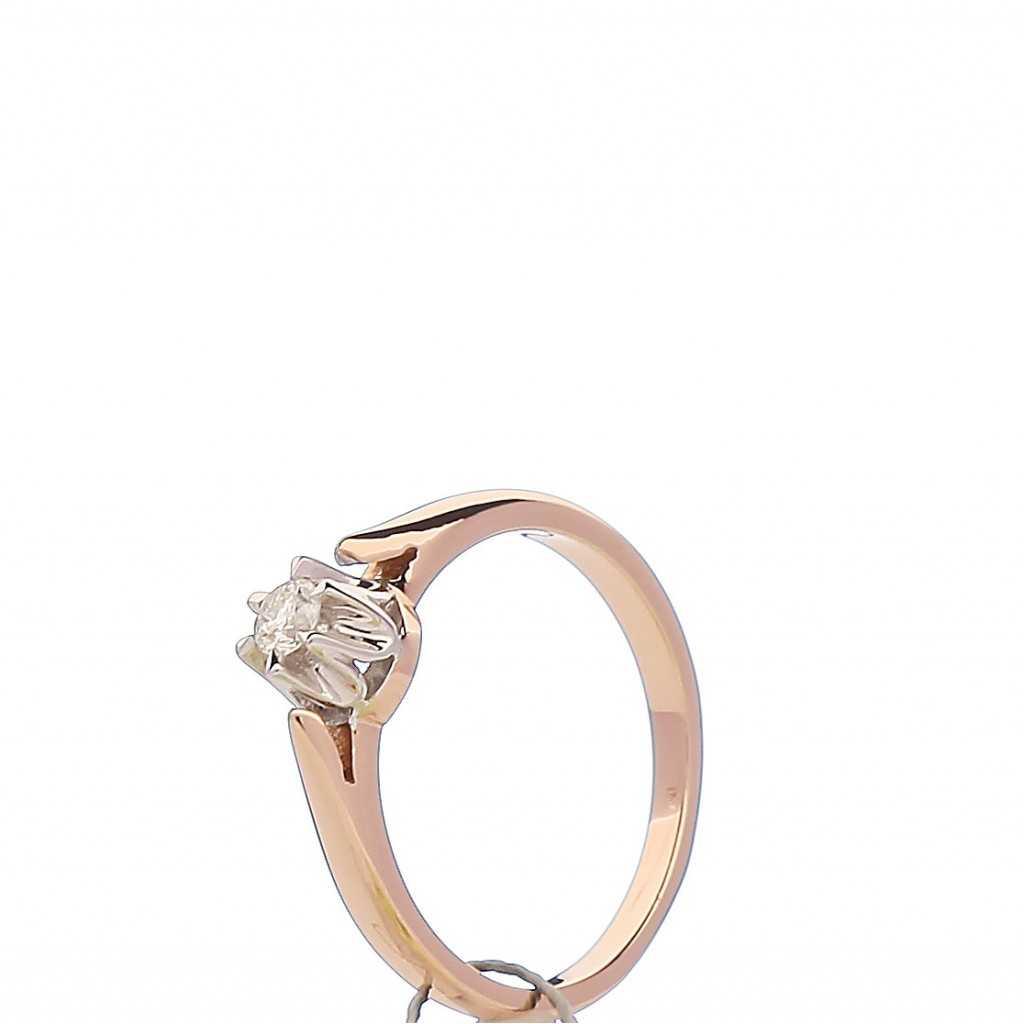 Auksinis žiedas briliantu - Auksiniai žiedai - Goldinga