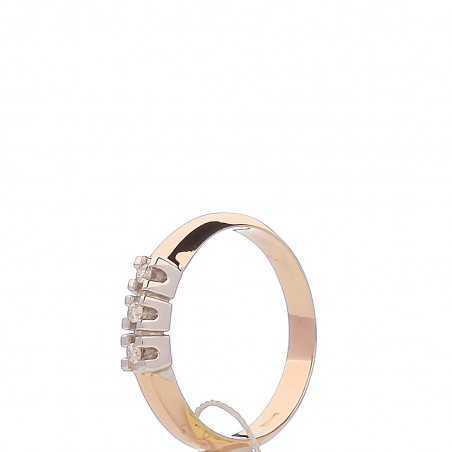 Auksinis žiedas su briliantais - Auksiniai žiedai - Goldinga