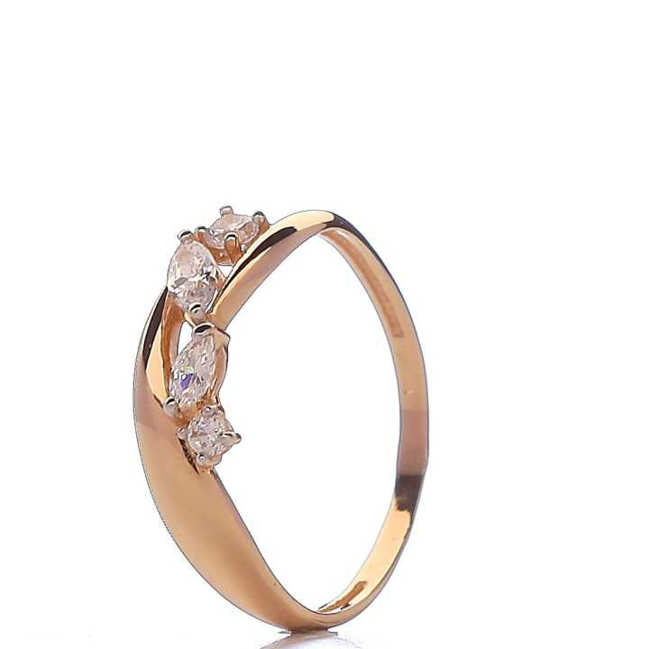 Auksinis žiedas 00579 - Auksiniai žiedai - Goldinga